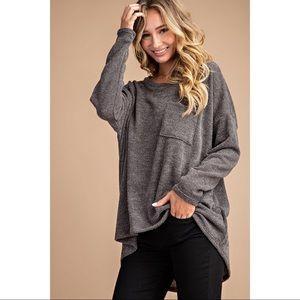 Susie Dolman Pocket Long Sleeve - Olive